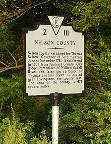 Nelson County Sign
