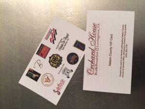 Our VIP card