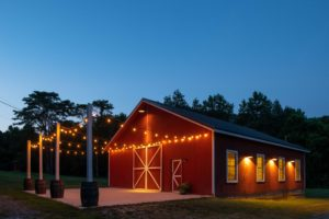 Our barn at night