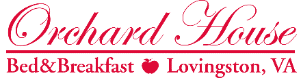 Orchard House Bed and Breakfast logo in red